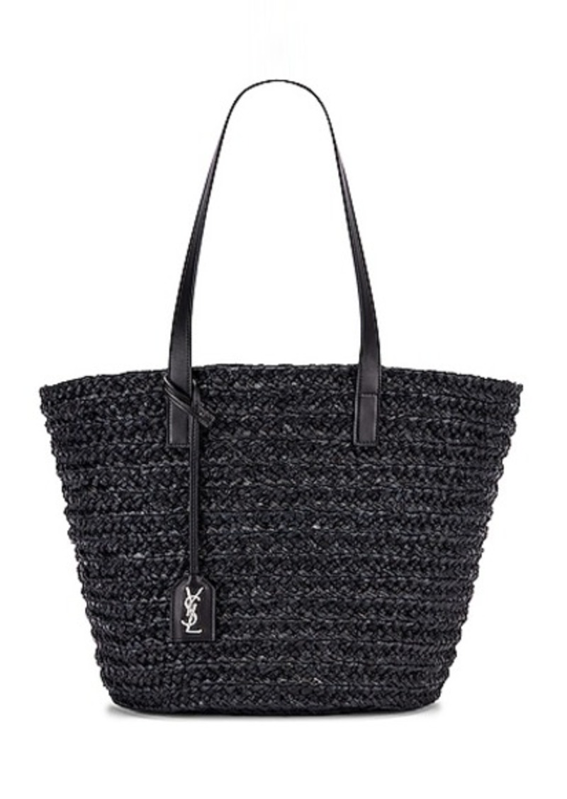 Saint Laurent Medium Rafia Panier Tote