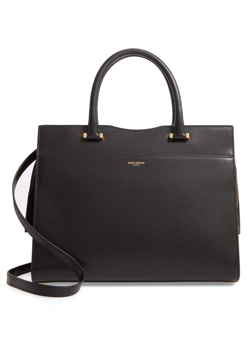 Saint Laurent Medium Uptown Calfskin Leather Satchel