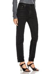 Saint Laurent Medium Waist Cropped Jean