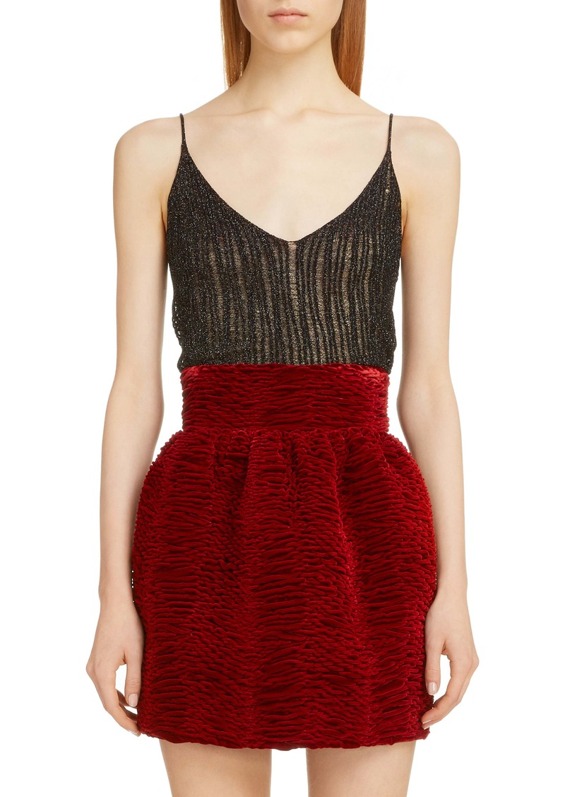 Saint Laurent Metallic Camisole