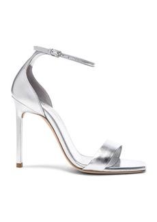 Saint Laurent Metallic Leather Amber Ankle Strap Heels