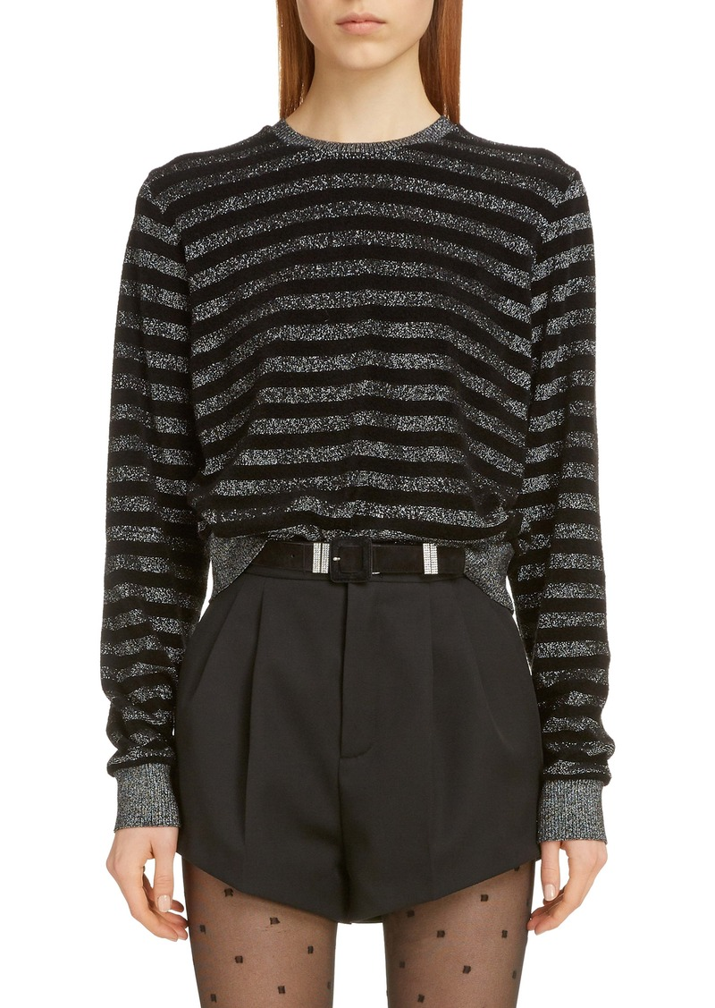 Saint Laurent Metallic Stripe Sweater