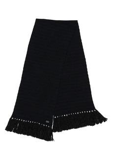 Saint Laurent Metallic Wool Blend Scarf