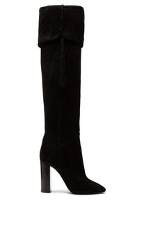 Saint Laurent Meurice tassel-embellished suede boots