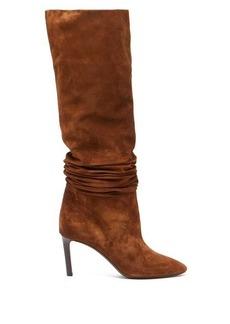 Saint Laurent Mica slouched suede boots