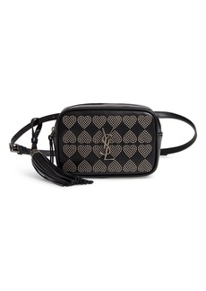 Saint Laurent Micro Lou Stud Hearts Calfskin Leather Belt Bag