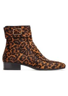 Saint Laurent Miles leopard-print ankle boots