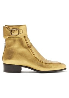 Saint Laurent Miles metallic leather ankle boots