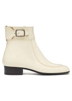 Saint Laurent Miles square-toe patent-leather ankle boots