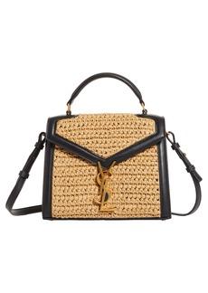 Saint Laurent Mini Cassandra Woven Top Handle Bag
