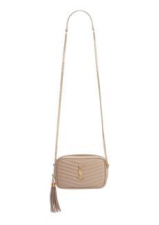 Saint Laurent Mini Lou Quilted Leather Camera Bag