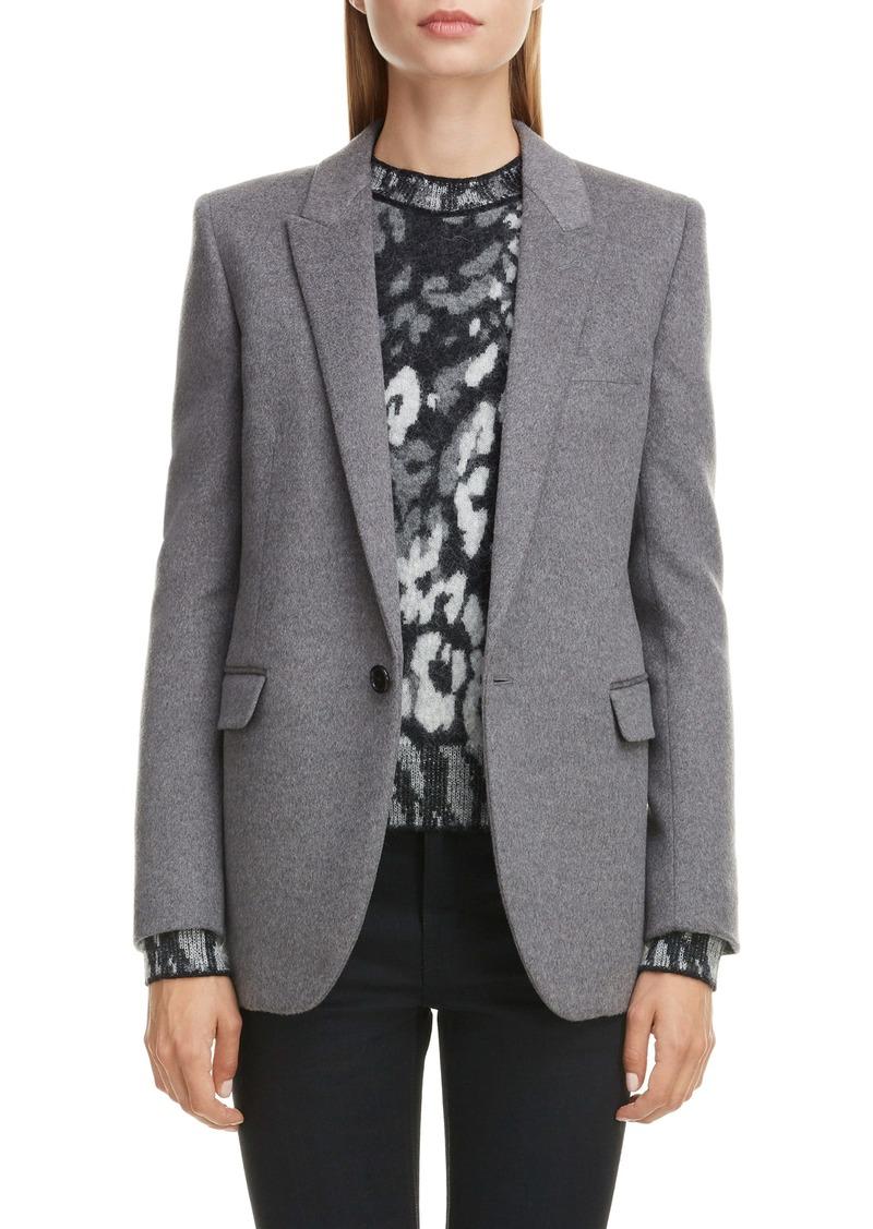 Saint Laurent Mélange Wool & Cashmere Jacket