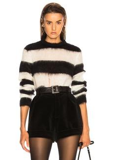 Saint Laurent Mohair Chevron Sweater