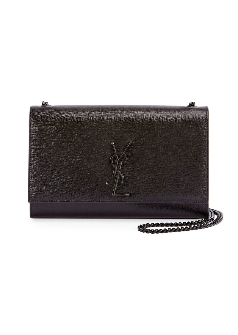 Saint Laurent Kate Medium Grain de Poudre Chain Bag  Black Hardware