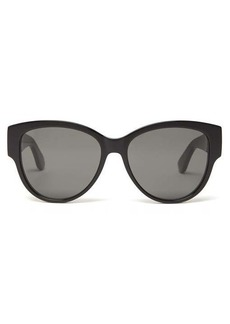 Saint Laurent Monogram logo cat-eye acetate sunglasses