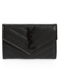 Saint Laurent Monogram Quilted Leather French Wallet