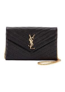 Saint Laurent Monogram YSL Matelasse Wallet-on-a-Chain