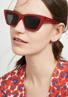 Saint Laurent Narrow Cat Eye Sunglasses