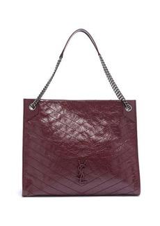 Saint Laurent Niki crinkle-effect quilted leather bag