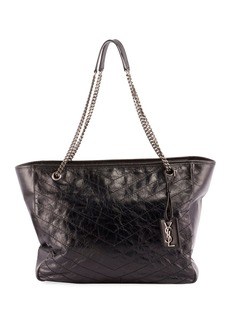 Saint Laurent Niki Large Quilted Double-Chain Tote Bag