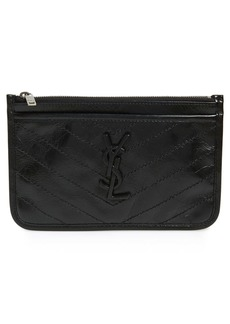 Saint Laurent Niki Quilted Leather Zip Pouch