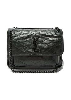 Saint Laurent Niki medium crinkle-effect leather shoulder bag