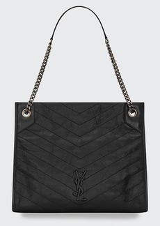 Saint Laurent Niki YSL Monogram Leather Shopping Tote Bag