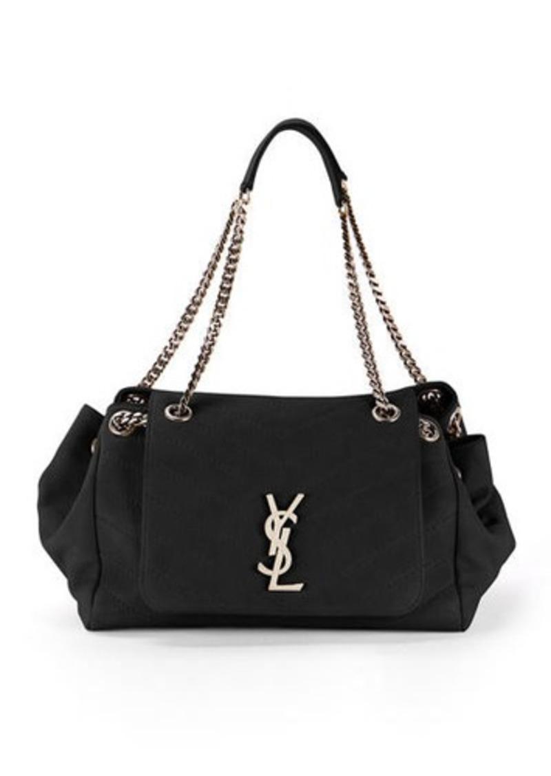 4e7ee1f7 Nolita Large Monogram YSL Double Chain Shoulder Bag