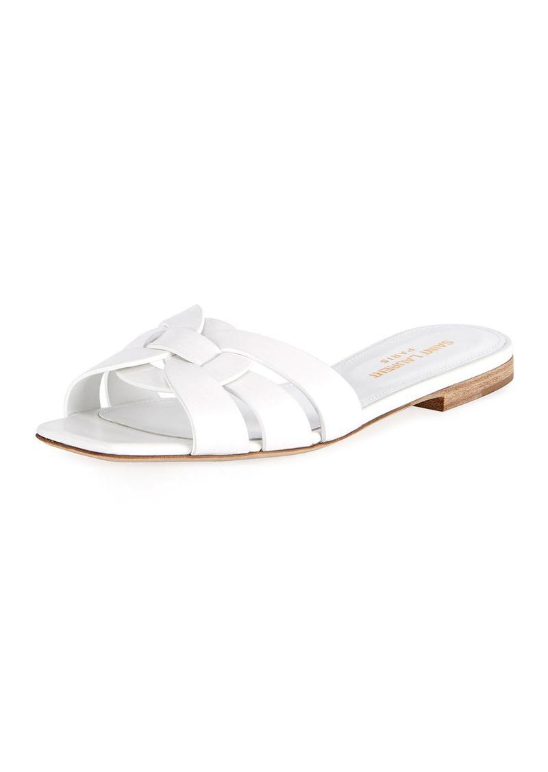 0ed9aaf407e Saint Laurent Saint Laurent Nu Pieds Flat Calf Leather Slide Sandal ...