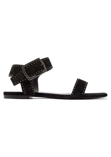 Saint Laurent Oak studded suede sandals
