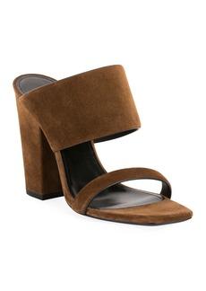 Saint Laurent Oak Suede Mule Sandals
