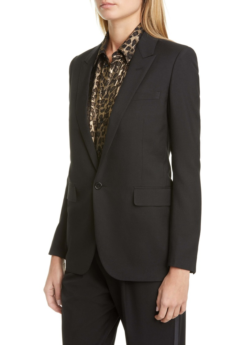 Saint Laurent One-Button Jacket
