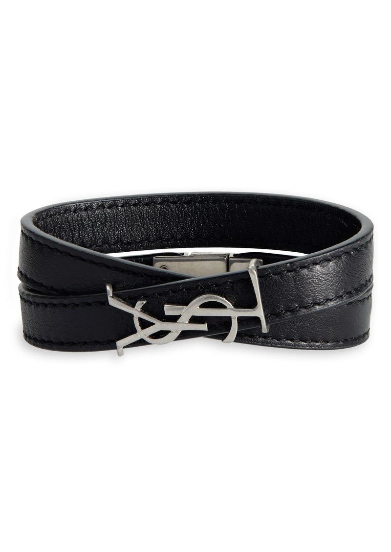 Saint Laurent Opyum YSL Double Wrap Bracelet