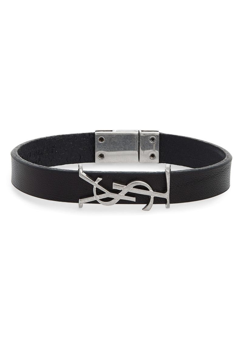 Saint Laurent Opyum YSL Leather Bracelet