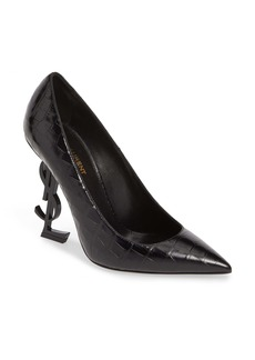 Saint Laurent Opyum YSL Pointy Toe Pump (Women)