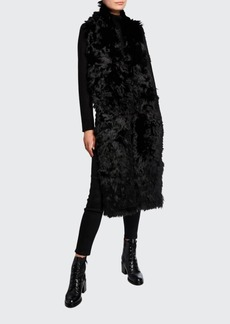 Saint Laurent Oversized Alpaca Fur Scarf