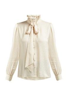 Saint Laurent Paisley-brocade silk shirt