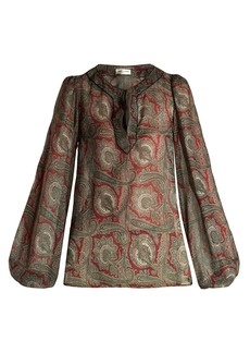 Saint Laurent Paisley-print crepe blouse