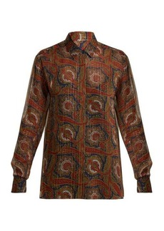 Saint Laurent Paisley-print silk-blend blouse