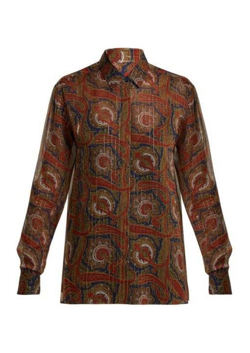 Saint Laurent Paisley-print silk-blend blouse