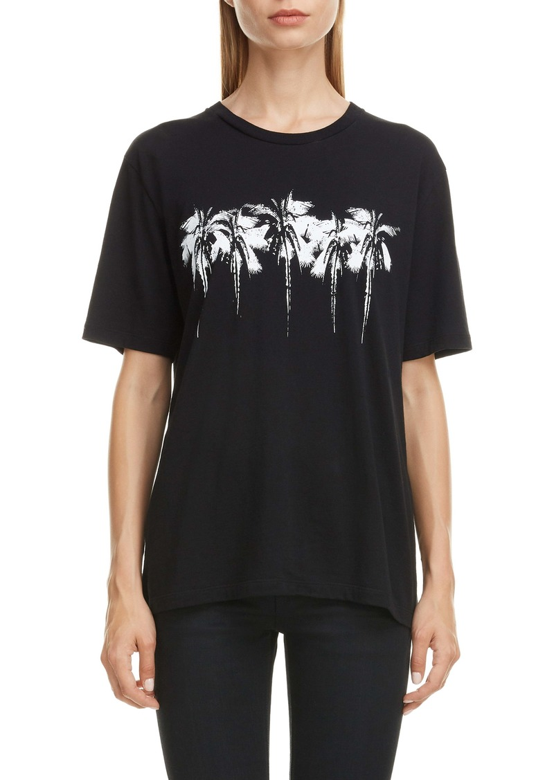 Saint Laurent Palm Print Tee