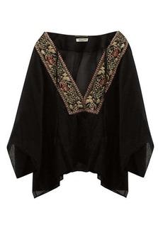 Saint Laurent Passementerie wool-voile kaftan blouse