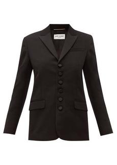 Saint Laurent Peak-lapel single-breasted wool blazer