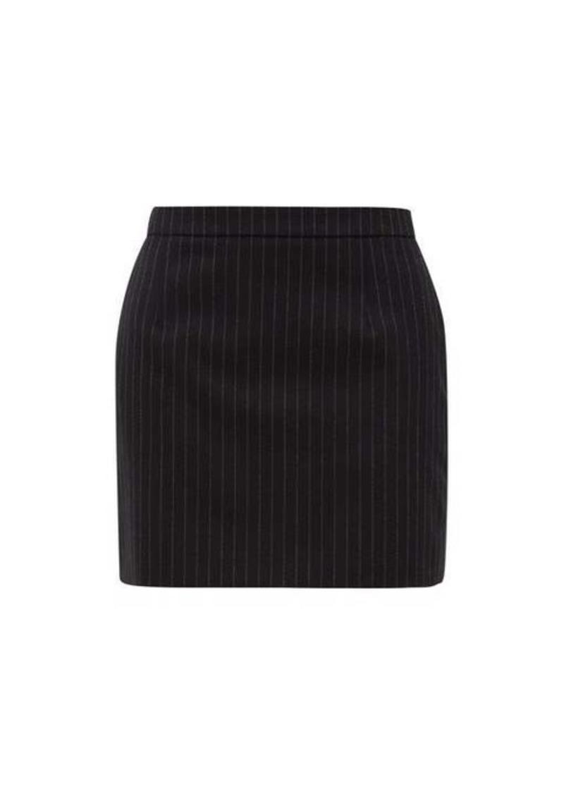 Saint Laurent Pinstriped wool-twill mini skirt