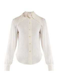 Saint Laurent Point collar georgette blouse