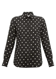 Saint Laurent Polka dot-print silk blouse