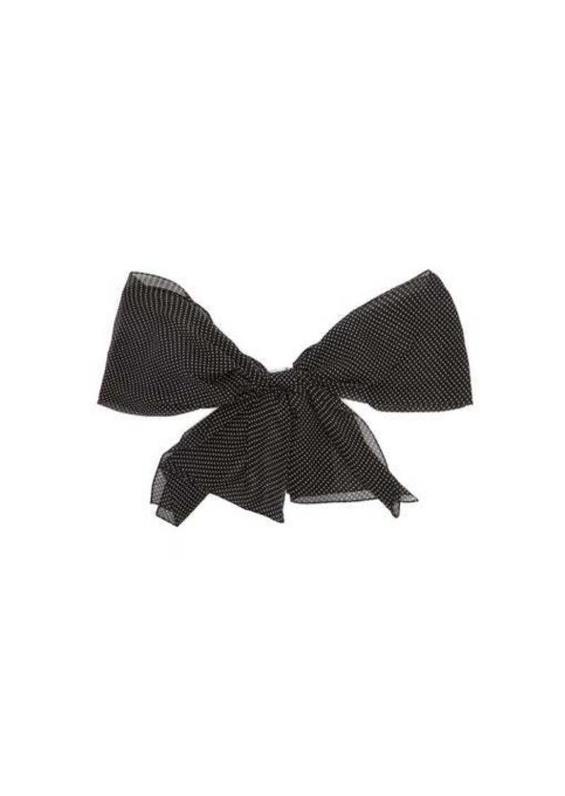 Saint Laurent Polka-dot silk-chiffon scarf brooch