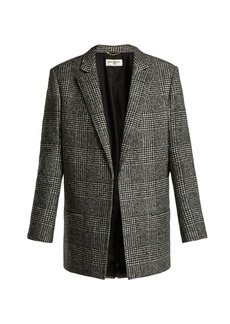 Saint Laurent Prince of Wales-check wool-blend jacket