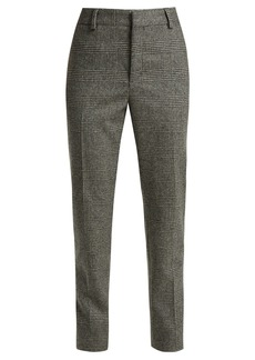 Saint Laurent Prince of Wales-check wool trousers