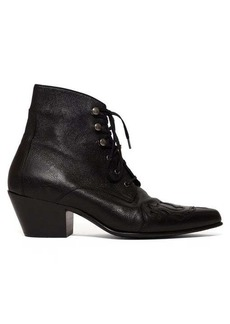 Saint Laurent Rebecca Western leather ankle boots